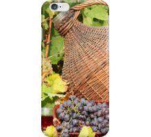 red wine autumn scene iPhone Case/Skin