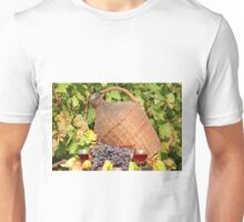 red wine autumn scene Unisex T-Shirt