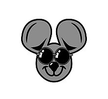 fun friendly mouse sunglasses Photographic Print