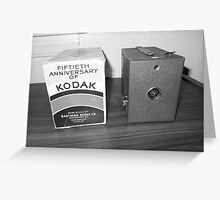 Vintage Kodak Camera Greeting Card