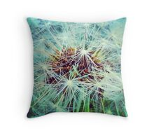 Dandelion Turquoise Throw Pillow