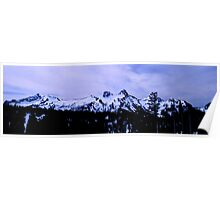 Tatoosh Mountain Range HDR Poster