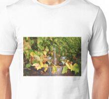 white wine autumn scene Unisex T-Shirt