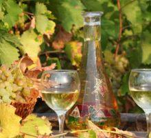 white wine autumn scene Sticker