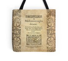 Shakespeare, A midsummer night's dream 1600 Tote Bag
