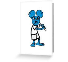 funny mouse baseball Greeting Card