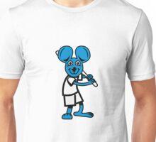 funny mouse baseball Unisex T-Shirt