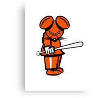 evil mouse baseball Canvas Print
