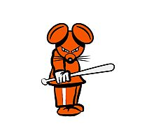 evil mouse baseball Photographic Print