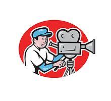 Cameraman Vintage Movie Camera Retro by patrimonio
