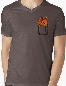 Kyuubi Pocket Mens V-Neck T-Shirt