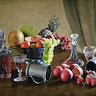 Wine and Fruit by Irene  Burdell