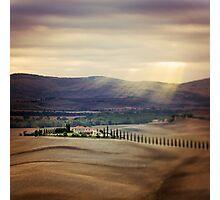 Sunrise in Tuscany Photographic Print