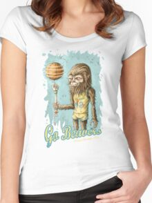 Go Beavers! (full colour) Women's Fitted Scoop T-Shirt