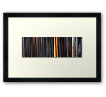 Moviebarcode: Sequence from Kill Bill: Vol. 1 - Chapter 3: The Origin of O-Ren (2003) Framed Print