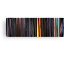 Moviebarcode: Sequence from Kill Bill: Vol. 1 - Chapter 3: The Origin of O-Ren (2003) Canvas Print