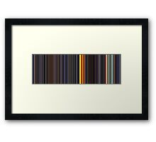 Moviebarcode: Sequence from Kill Bill: Vol. 1 - Chapter 3: The Origin of O-Ren (2003) [Simplified Colors] Framed Print