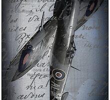 Spitfire over France Phone case by outlawalien