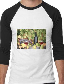 red wine Men's Baseball ¾ T-Shirt