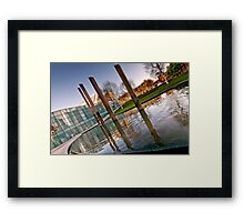 Manchester and the National Football Museum Framed Print