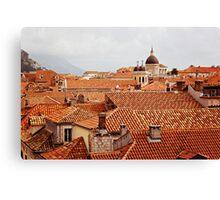 Roofs (Dubrovnik) Canvas Print