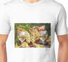 two glasses of white wine Unisex T-Shirt