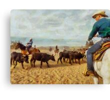Cattle Penning at White Stallion Ranch Canvas Print