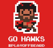 GO 'HAWKS! 8-bit Playoff Beard! Kids Tee