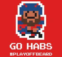 GO HABS! 8-bit Playoff Beard! One Piece - Short Sleeve
