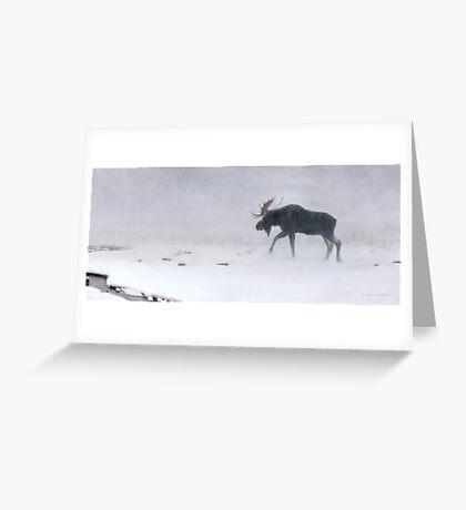 Algonquin Moose - Bull Moose Greeting Card