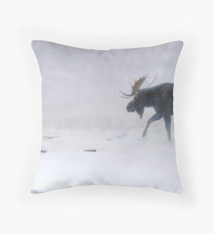 Algonquin Moose - Bull Moose Throw Pillow