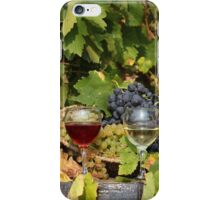 vineyard with red and white wine  iPhone Case/Skin