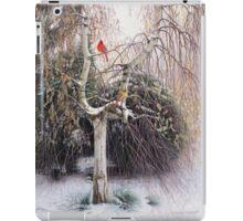 Winter Veil - Cardinal Pair iPad Case/Skin