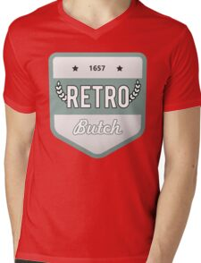 RETRO BUTCH Mens V-Neck T-Shirt