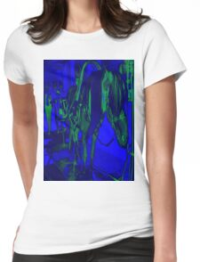 Horse and carriage e03 Womens Fitted T-Shirt