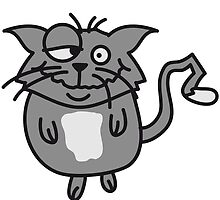 Funny crazy stupid cat by Style-O-Mat