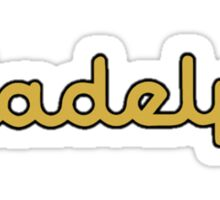 Illadelph Crest Sticker (Yellow) Sticker