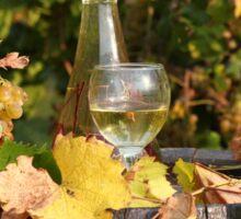 white wine and grape Sticker