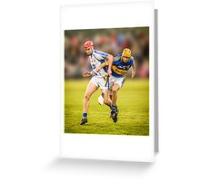 Hurling: Waterford v Tipperary Greeting Card