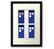 Police box geometry Framed Print