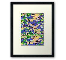 8-bit Digital Camo (Luigi) Framed Print