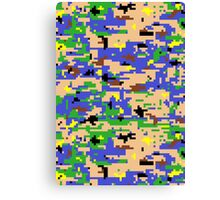 8-bit Digital Camo (Luigi) Canvas Print