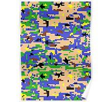 8-bit Digital Camo (Luigi) Poster