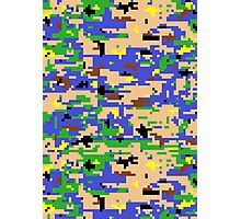 8-bit Digital Camo (Luigi) Photographic Print
