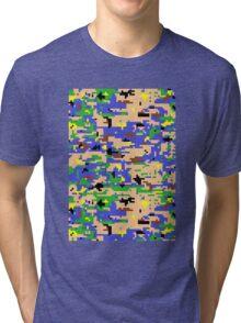 8-bit Digital Camo (Luigi) Tri-blend T-Shirt