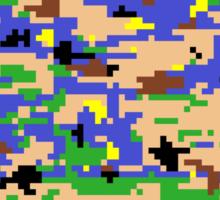 8-bit Digital Camo (Luigi) Sticker