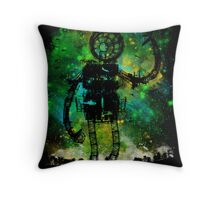 mad robot Throw Pillow