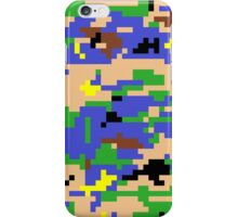 8-bit Digital Camo (Luigi) iPhone Case/Skin