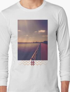 Niagara Falls WaterFront Tan Long Sleeve T-Shirt