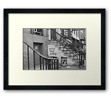 Stop the Cops, East Village 1968 Framed Print